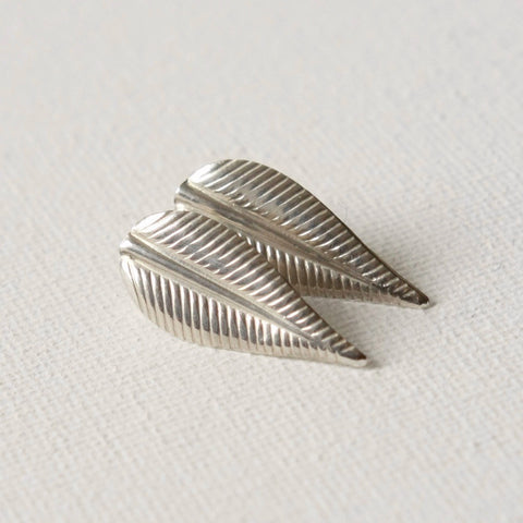 Sterling Silver Leaf Post Earrings