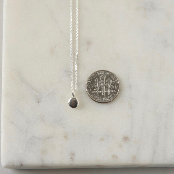 Sterling Silver Minimalist Disc Necklace