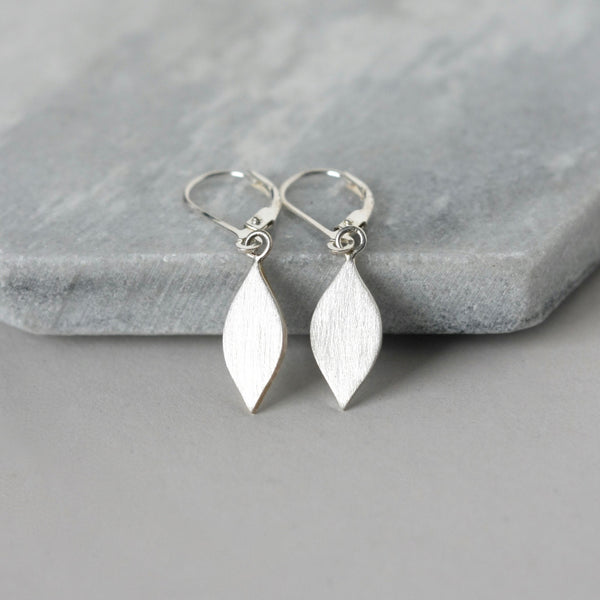 Small Sterling Silver Bar Stud Earrings