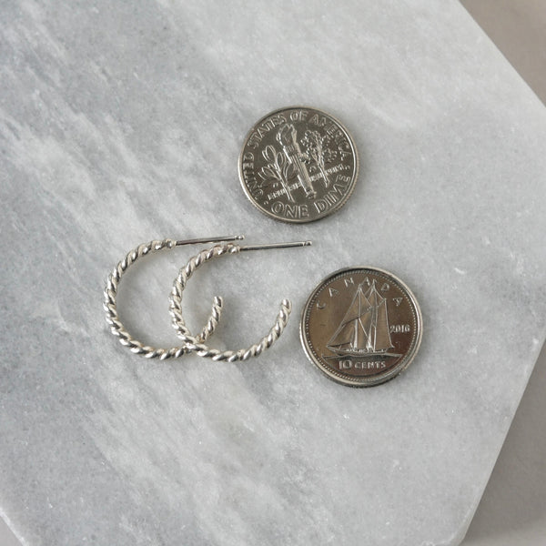 Small Sterling Silver Everyday Hoop Earrings