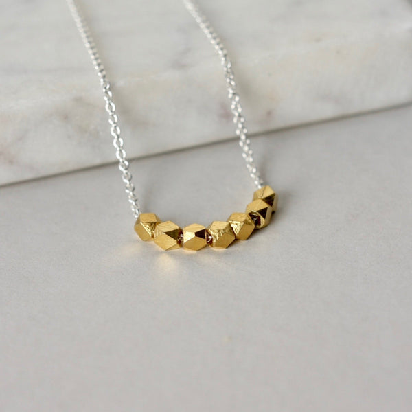 Faceted Gold Vermeil Nugget Necklace