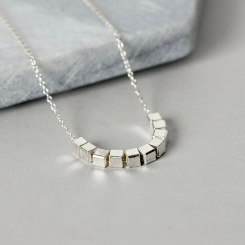 Sterling Silver Geometric Layering Necklace