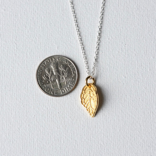 Gold Vermeil Leaf Necklace