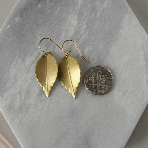 Brass and Sterling Silver Chandelier Earrings