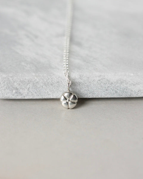 Small Sterling Silver Flower Charm Necklace