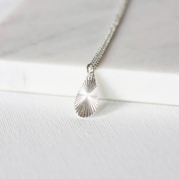 Sterling Silver Teardrop Pendant Necklace
