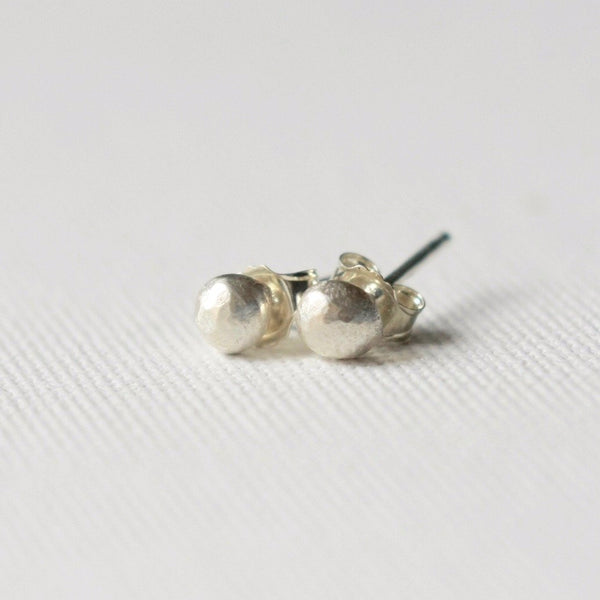 Sterling Silver Nugget Stud Earrings