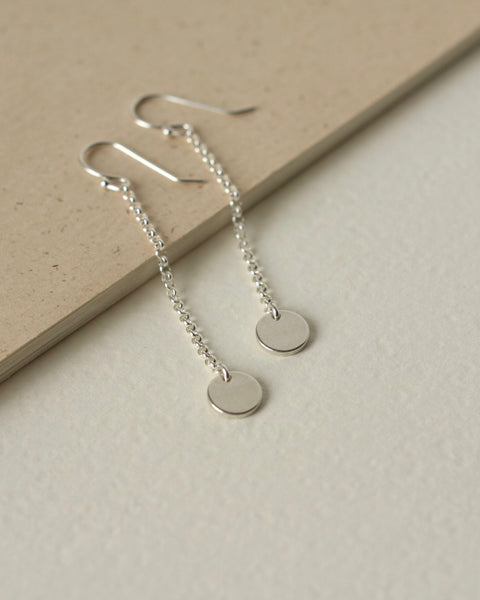 Dainty Minimalist Sterling Silver Bead Necklace