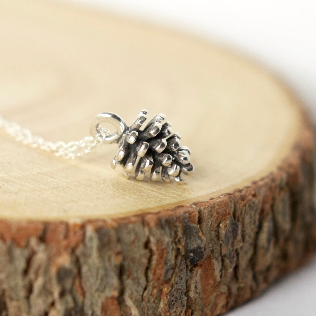 Sterling Silver Pinecone Necklace