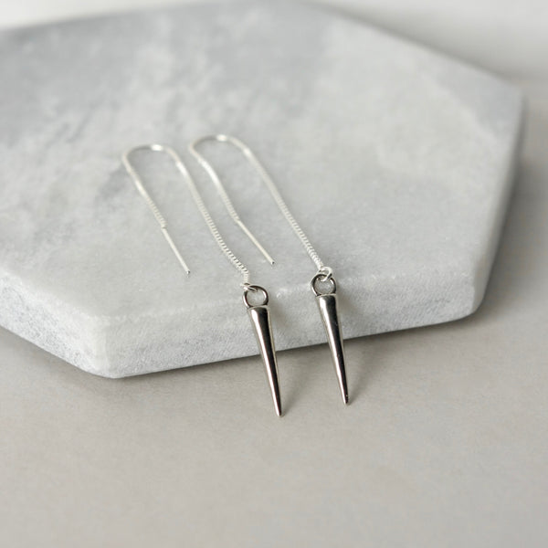 Sterling Silver Spike Threader Earrings