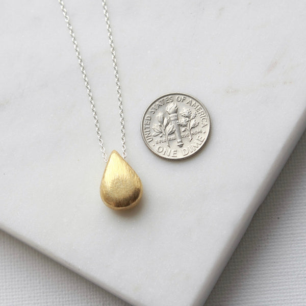 Sterling Silver Gold Vermeil Pendant Necklace