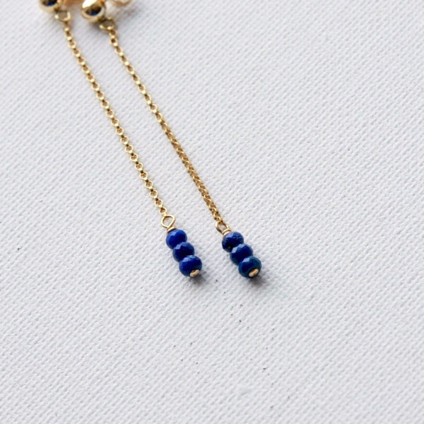 Faceted Lapis Lazuli Earrings