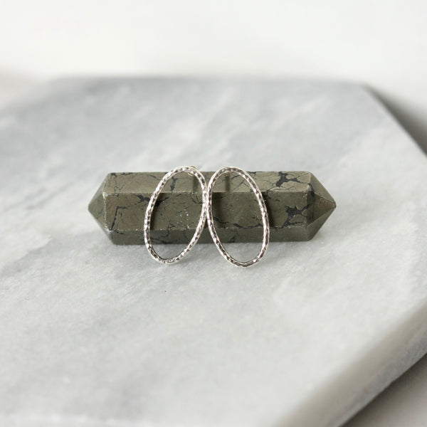 Sparkly Sterling Silver Geometric Stud Earrings