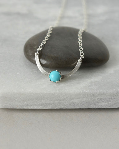Modern Sterling Silver Turquoise Necklace