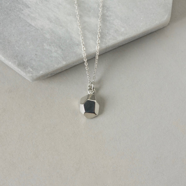 Sterling Silver Geometric Charm Necklace