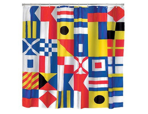 Shower Curtain Nautical Flag