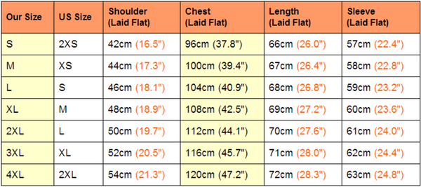 Cat Pouch Hoodie Sizing Details