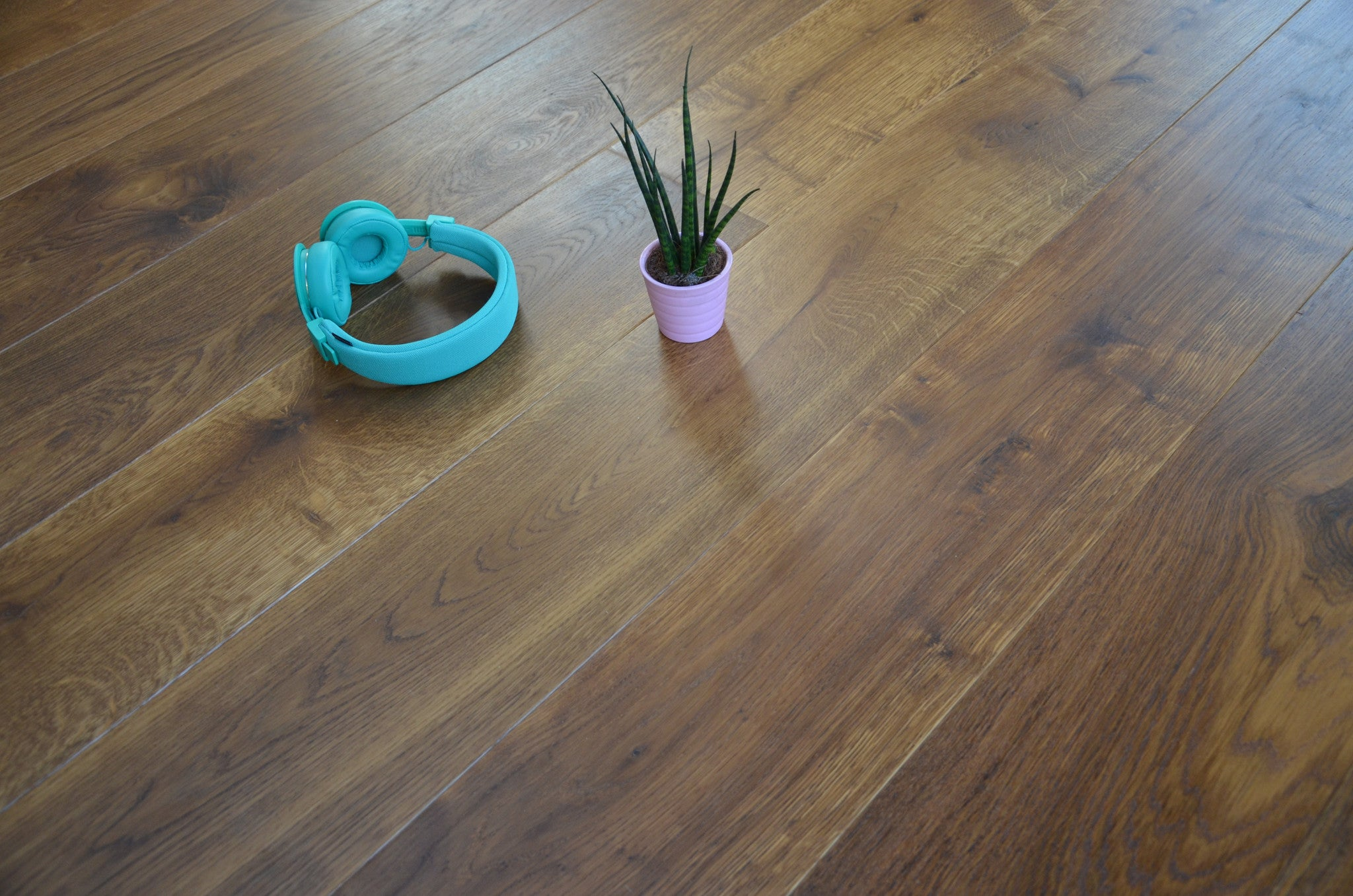 smoked oak floor