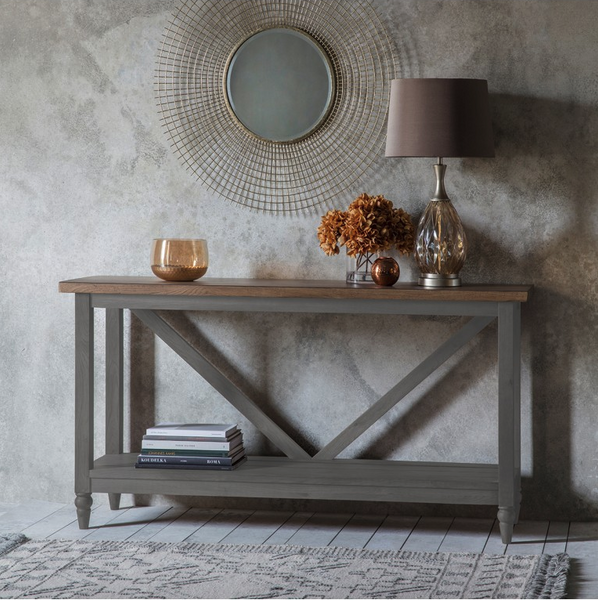 New York Large Trestle Console Table