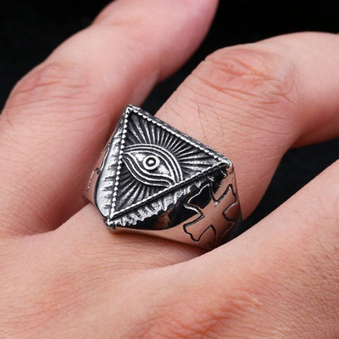 Stainless Steel All-seeing Eye Ring