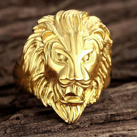 Gold Lion Ring Of Kings