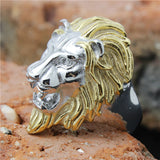 Gold And Silver Lion Ring