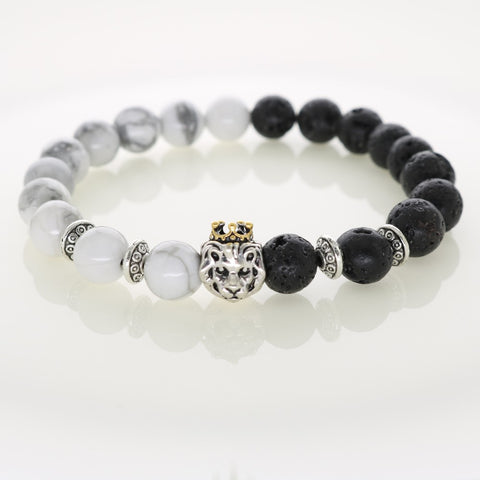 Lion Illuminati Bracelet: Light Vs. Dark Edition