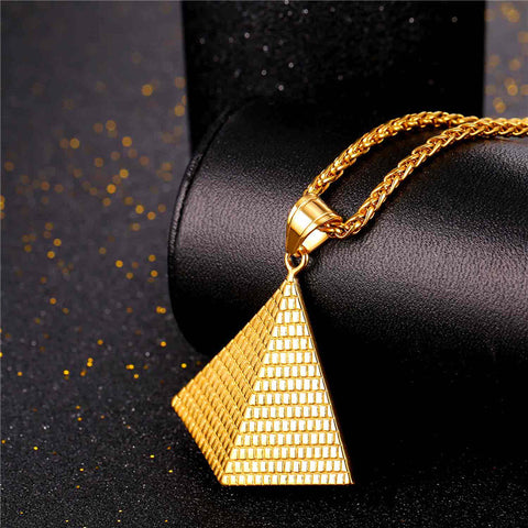 Illuminati Pyramid Pendant in Stainless Steel or Gold