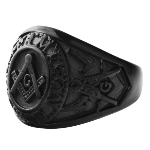 Freemason Ring Of Power [Black or Gold]