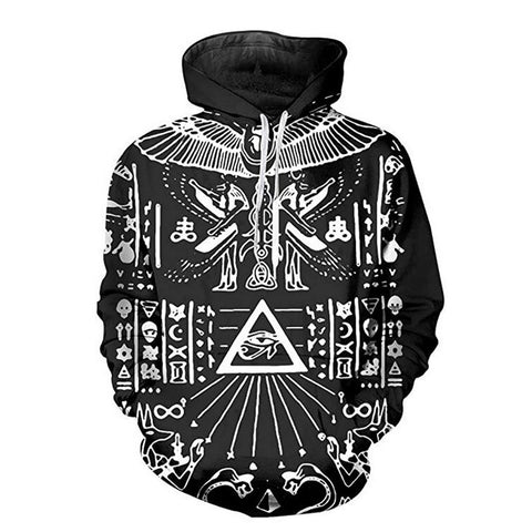 Illuminati Hoodie Long Sleeve Sweatshirt [Black]