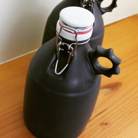 Portland Growler Matte Black 64 oz - Sprocket