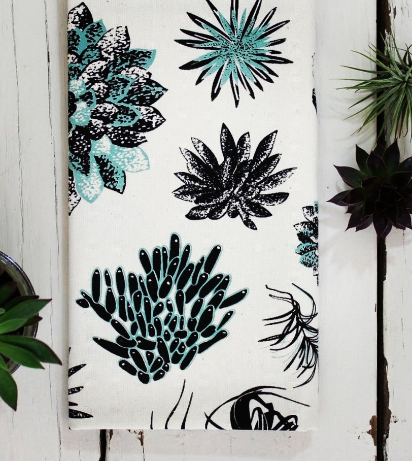 Succulent Organic Cotton Tea Towel