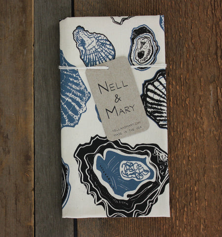 Oyster Organic Cotton Tea Towel