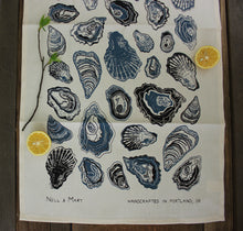 Load image into Gallery viewer, Oyster Organic Cotton Tea Towel