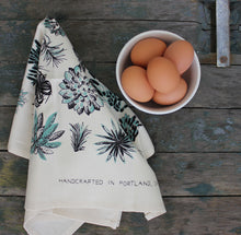 Load image into Gallery viewer, Succulent Organic Cotton Tea Towel