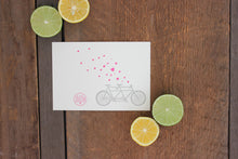 Load image into Gallery viewer, Tandem Bike Letterpress Card