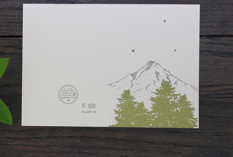 Mt. Hood Letterpress Card