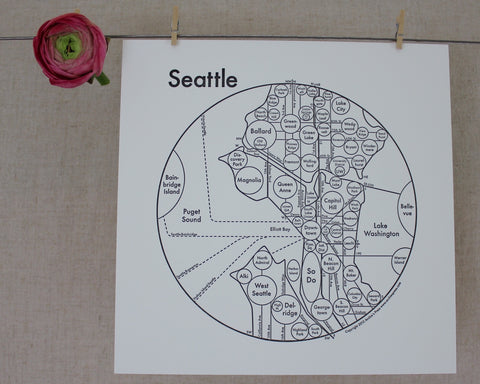 Seattle Map Print