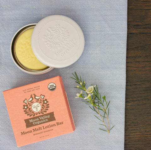 Bergamot Geranium Moon Melt Lotion Bar