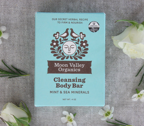 Mint & Sea Mineral Organic Cleansing Body Bar