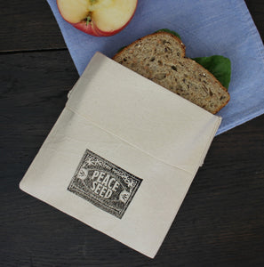 Peace Seed Organic Cotton Sandwich Bag