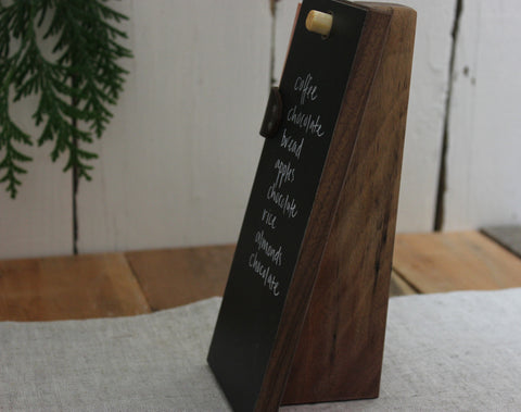 Reclaimed Walnut Chalk Tablet Stand