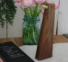 Load image into Gallery viewer, Reclaimed Walnut Chalk Tablet Stand