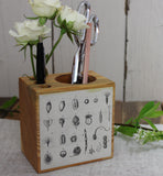 Small Botanical Desk Caddy ~ Seeds