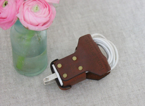 Leather iPhone Charger Wrap