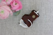 Load image into Gallery viewer, Leather iPhone Charger Wrap