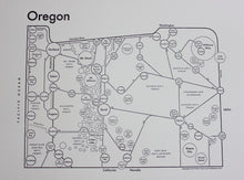 Load image into Gallery viewer, Oregon Map Print