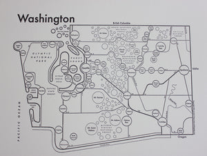 Washington Map Print