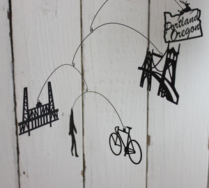 City Love: Portland ~ Laser Cut Hanging Mobile