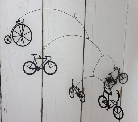 Bikes! ~ Laser Cut Hanging Mobile